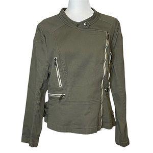 Lane Bryant Army Green Moto Jacket Size 16/18
